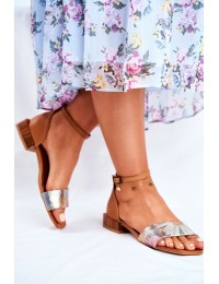 Women's Sandals Maciejka Leather Ginger 04618-29 - 04618-29/00-5 GINGER