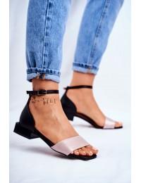 Women's Sandals Maciejka Leather Black 04618-21 - 04618-21/00-5 BLK