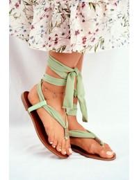 Women's Sandals Flip-flops Green Derryl - P-1081 GREEN