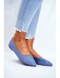 Women s Ballerinas Eco-Suede Blue Bellissima - NK19P BLUE