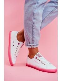 Stilingi jaunatviško stiliaus bateliai Cross Jeans White Pink  - FF2R4075C WHITE/PINK