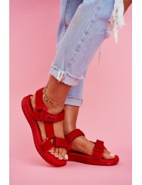 Women's Sandals Big Star Red FF274A602 - FF274A602 RED