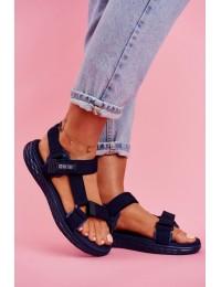 Women's Sandals Big Star Navy FF274A601 - FF274A601 NAVY