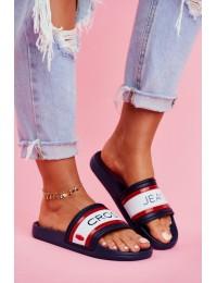 Women's Slides Cross Jeans Navy Blue FF2R4160C - FF2R4160C NAVY