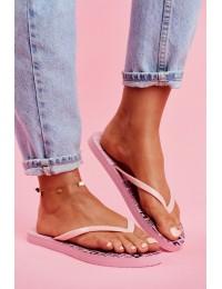 Women's Slides Flip flops Big Star Pink FF274A304 - FF274A304 PINK