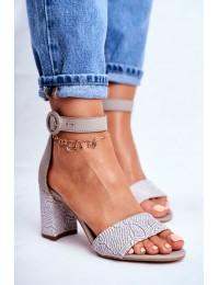 Women's Sandals Maciejka Leather Grey 04235-03/00-5 - 04235-03/00-5 GREY