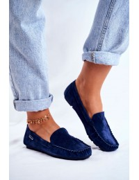 Women s Loafers Leather Suede Blue Papito - OCA20-2166 BLUE