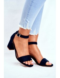 Women's Sandals Eco-Suede Navy Blue More and More! - 20-17058 NAVY