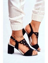Women's Sandals Eco-Suede Black Vision - 20-17080 BLK