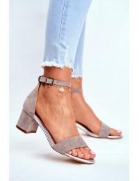 Women's Sandals Eco-Suede Sergio Leone Grey SK839  - SK839 GREY MIC