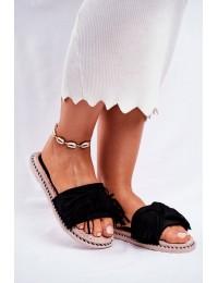 Women's Slides With Bow Black Thailand - CK159 BLK