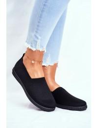 Women's Sneakers Slip-on Black Grigio - ZK118 BLK