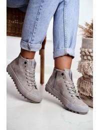 Šilti stilingi laisvalaikio stiliaus batai su avikailiu - GG274070 GREY