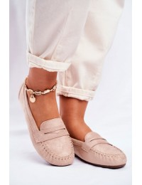 Women s Loafers Material Beige Panay - CD-66 BEIGE