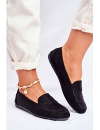 Women s Loafers Material Black Panay - CD-66 BLK