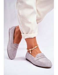 Women s Loafers Material Grey Panay - CD-66 GREY