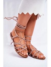 Women's Sandals Laced Beige Negros - CK152 BEIGE