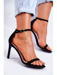 Women's Sandals On High Heel Classic Black Basilian - NF31 BLK