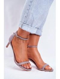 Women's Sandals On High Heel Classic Grey Mintore - NF34 GREY