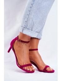 Women's Sandals On High Heel Classic Fuchsia Mintore - NF34 FUCHSIA