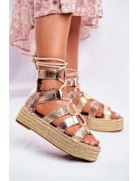 Women s Sandals On Platform Espadrilles Gold Eromica - R127 GOLD