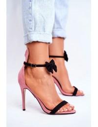 Women's Sandals On High Heel Rabbit's Ears Pink Honey Bunny - ZJ-15 PINK