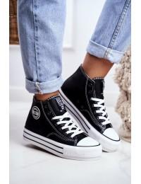 Women's Sneakers Big Star Black GG274012 - GG274012 BLACK