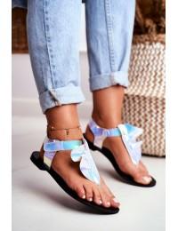 Lu Boo Reflective Sandals Japanese Velcro Lottie - 886-B2 MULTI