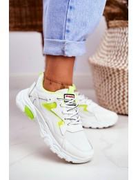 Sport Women White Shoes Lu Boo Yellow Dazzle Me - D58-1 YELLOW
