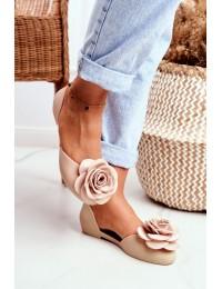 Lu Boo Rubber Ballerinas Beige Flower Esther - SAX1 BEIGE