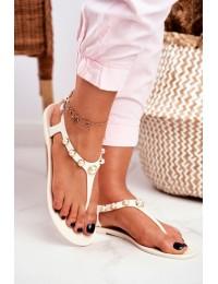 Women's Rubber Sandals Pearls White Japanese Denise - 668 WHITE