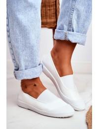 Stilingi SLIP ON stiliaus bateliai White Justy - 8811-24 WHITE