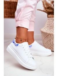 Women s Sport Shoes Lu Boo White Metallic Blue Matilda - F58-1 WHITE/BLUE