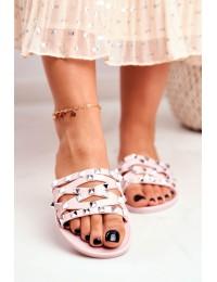 Women's Slides Pink Rubber Studs Patty  - XD-886 PINK