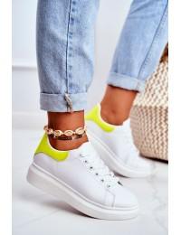 Women s Sport Shoes Lu Boo White Matilda - F58-1 WHITE/YELLOW