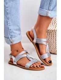 Women s Sandals Flat Silver Rachel - PA-372 SILVER