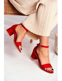 Women's Sandals Eco-Suede Red Oh Baby! - LL68 RED