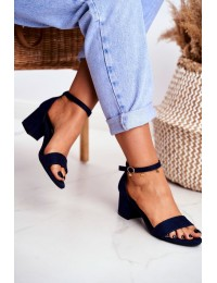 Women's Sandals Eco-Suede Navy Oh Baby! - LL68 BLUE