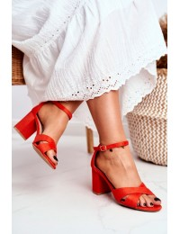 Women's Sandals Eco-Suede Orange Lady Milion - 1-124 ORANGE