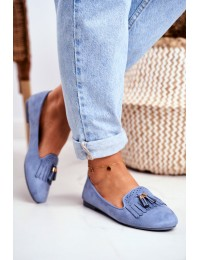 Women s Loafers Blue Lords Fringe Blue Therese - FM051 L.BLUE