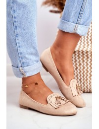 Women s Loafers Beige Lords Fringe Blue Therese - FM051 BEIGE