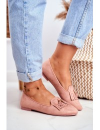 Women s Loafers Pink Lords Fringe Blue Therese - FM051 PINK