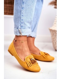 Women s Loafers Yellow Lords Fringe Therese - FM051 YELLOW