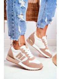 Women s Sport Shoes Brown Gold Elements Maddie - TCYR-32 WHITE/BEIGE