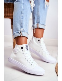 Women's High Sneakers Big Star White FF274A171 - FF274A171 WHITE