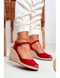 Women's Sandals On Wedge Heel Big Star Red DD274A213 - DD274A213 RED