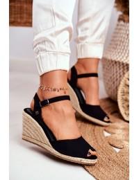 Women's Sandals On Wedge Heel Big Star Black DD274A209 - DD274A209 BLK