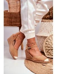 Women's Sandals On Wedge Heel Big Star Light Brown DD274A169 - DD274A169 LT.BROW