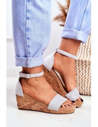 Women's Sandals On Wedge Grey MarryMe - LL-228P GREY