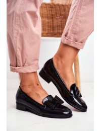 Women's Loafers Painted Bow Black Trixi - 21-10570 BLK